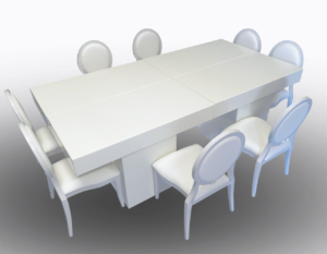 Le Minou Rectangular Dining Tables with Louis Dining Chairs 2 1 300x233 - Le Minou Rectangular Dining Table