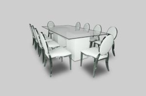 Le Minou Regal Dining Table Setup March2019 1 300x197 - Le Minou Regal Glass Dining Table