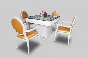Le Minou Square Dining Table with Mashrabiya Table Top Setup March2018 300x197 - Le Minou Square Dining Table with Mashrabiya Table Top