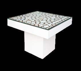 Le Minou Square Dining Table with Mashrabiya Table Top e1553583697611 1 - Le Minou Square Dining Table with Mashrabiya Table Top