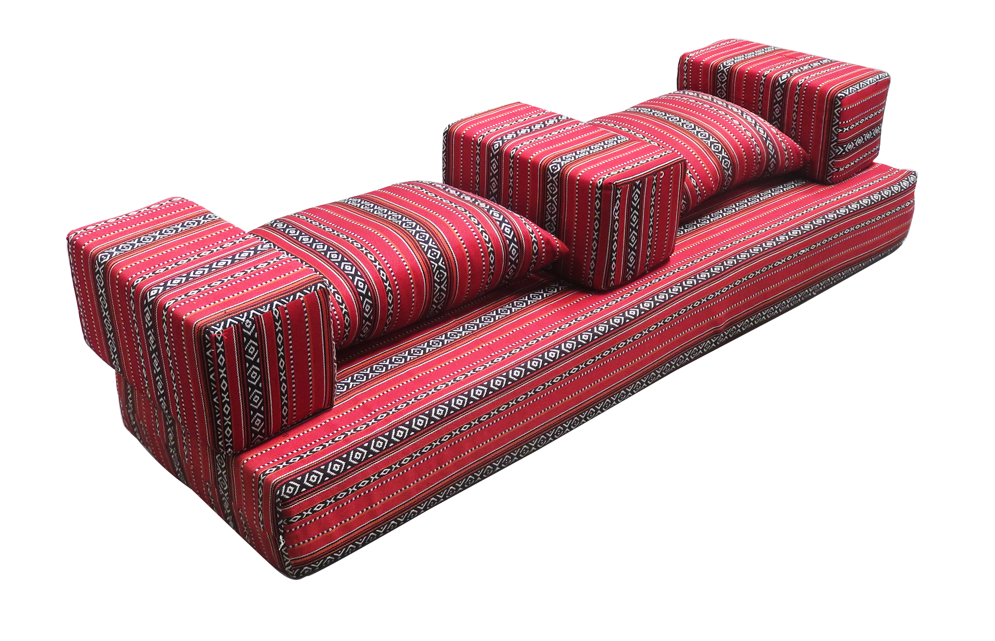The Arabic Majlis Rectangular Cushion 1 is available for rent or