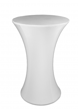 White Cocktail Table Cover, Stretch cocktail table cover