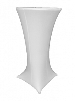 Lycra Cocktail Table - White
