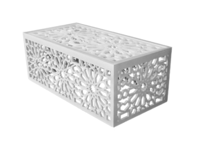 Mashrabiya Rectangular Coffee Table White 1 300x213 - Mahdia Mashrabiya Rectangular Coffee Table - White