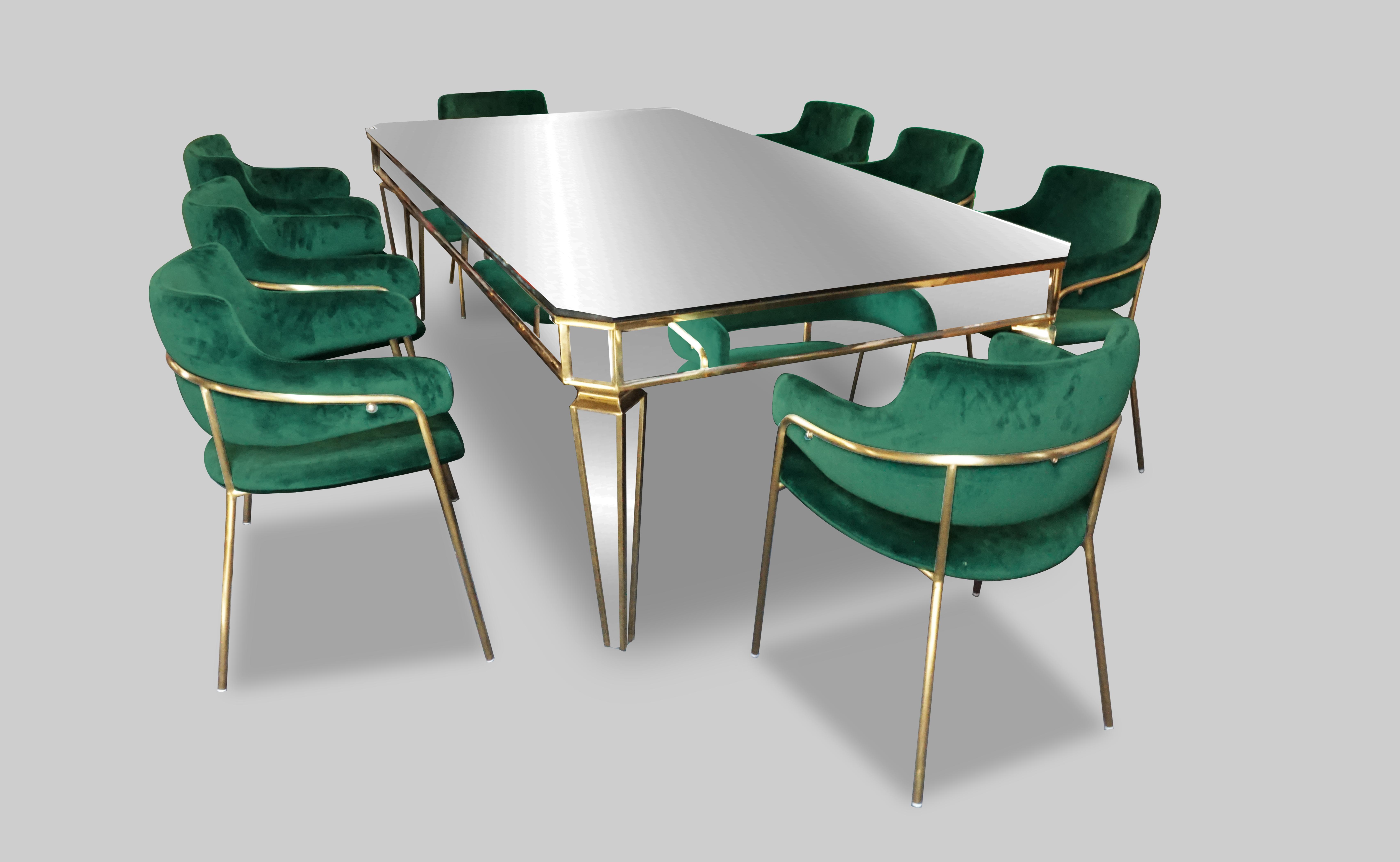 Eleganza Velvet Chair - Green