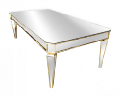 mirror table, dining table, wedding table