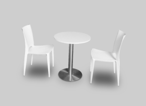 Nix Chair with Blanc Cafe Table Setup 2 1 300x218 - Nix Chair