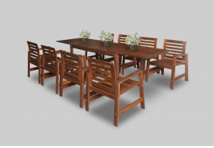 Oakland Wooden Dining Table with Oakland Wooden Armchair