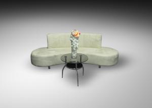 Oasis sofa with round glass coffee table 1 300x214 - Oasis Sofa
