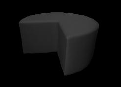 black pouffe, black ottoman