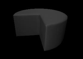 Pacman Pouffe Black e1568725248284 1 - Caravane Pouffe - Black