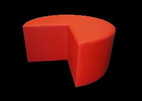 Pacman Pouffe Red e1568725008545 1 - Caravane Pouffe - Red