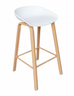 Wooden Bar Stool, Scandinavian Bar Stool