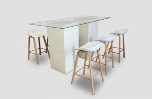 Palma Barstool with Le Minou Dash High Table