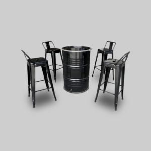 Pauchard Bar Chair - Black