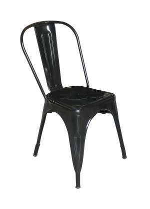 Pauchard Chair Black e1512374632579 1 1 300x417 - Pauchard Metal Chair - Black