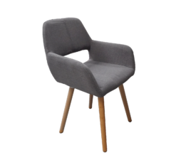gray exhibition armchair, scandinavian chair, armchair