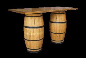 Wooden Barrel Bar Table, barrel table
