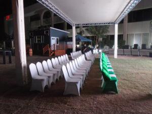 Areeka Event Rentals - Stewart Banquet Chair Setup