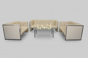 Ramsden 3-Seater Sofa with Verre Rectangular Glass Table