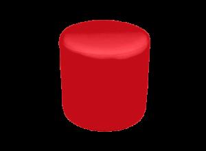 Roma Round Pouffe Red e1512643158513 1 1 300x220 - Roma Round Pouffe - Red