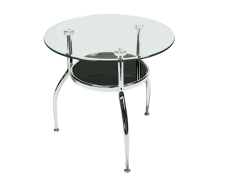 Round Glass Coffee Table e1474464495330 1 1 - Cheval Round Glass Coffee Table