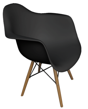 Scandinavian Armchair Black 1 300x371 - Scandinavian Armchair - Black
