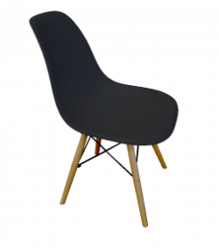 Black Plastic chair, black chair, black eames chair, black scandinavian chair, black exhibition chair