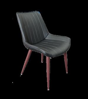 black leather chair, black chair
