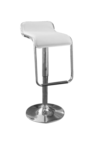 Toledo Bar Stool White e1512996989264 1 300x463 - Toledo White Bar Stool