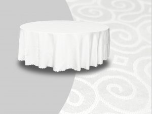 Winchester Round Banquet Table Cover White 1 300x225 - Winchester Round Banquet Table
