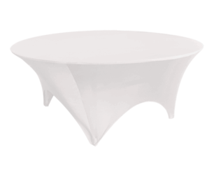 white round table cover, banquet table cover