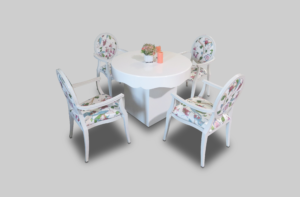 aug2017 le minou chic round dining table setup dining tables 1 1 300x197 - Le Minou Chic Round Dining Table