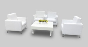 avalon square white coffee table setup with sophie single seaters 1 300x161 - Avalon Square White Coffee Table