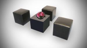 black roma square pouffe setup 1 300x167 - Black Roma Square Pouffe