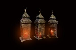 brass arabic lamp setup 1 300x197 - Large Brass Arabic Lamp