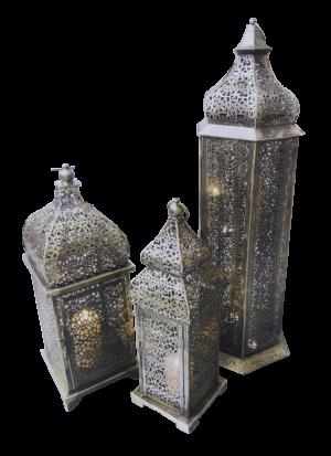brass arabic lamps lit 3 3 300x413 - Large Brass Arabic Lamp