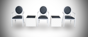 black dior armchair, stage furniture