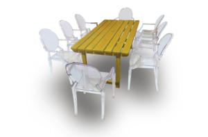 dauphin ghost chair setup 1 300x197 - Bratton Picnic Table