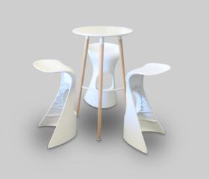 ibiza bar stool and scandinavian round cocktail table 1 300x257 - Scandinavian Round High Table