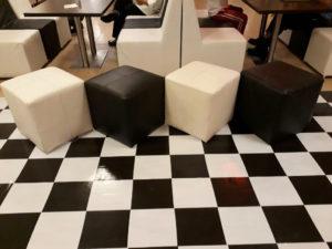 jw14 2 300x225 - Black Roma Square Pouffe