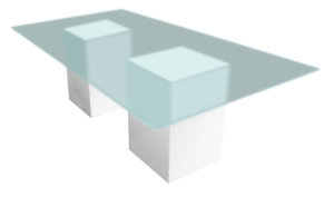 Rectangular Dining Table, glass dining table