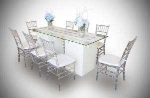 le minou recftangular glass dining table setup 1 300x197 - Le Minou Vertex Dining Table