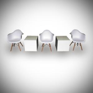 scandinavian armchair setup 1 300x300 - Scandinavian Armchair - White