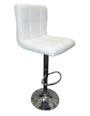 seville bar stool e1513752800326 1 300x386 - Seville Leather Bar Stool in White