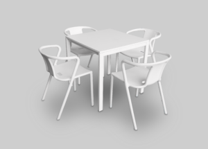 stellar chair setup with alba cafe table 1 300x215 - Stellar Chair