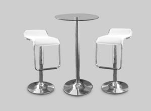 toledo car stool white with colada cocktail table 2 1 300x222 - Toledo White Bar Stool